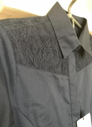 Темно синяя рубашка piazza italia3 фото