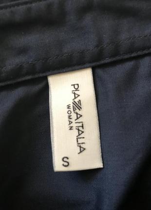 Темно синяя рубашка piazza italia4 фото