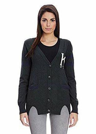Серый кардиган кофта джемпер с карманами karen by simonsen коттон вискоза этикетка