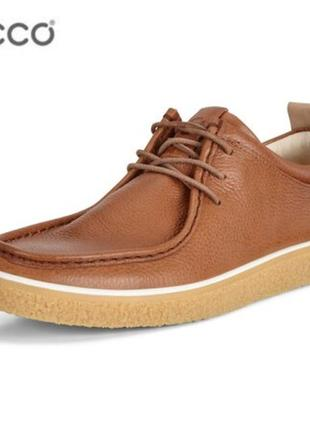 Кожаные туфли мокасины экко ecco crepetray р.44 оригинал новые