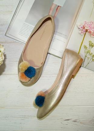 Zara! красивые туфли, балетки на низком ходу