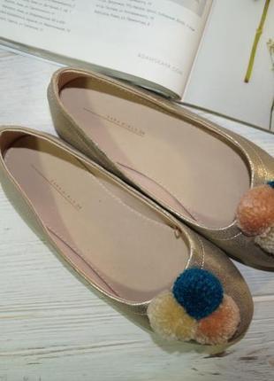 Zara! красивые туфли, балетки на низком ходу2 фото