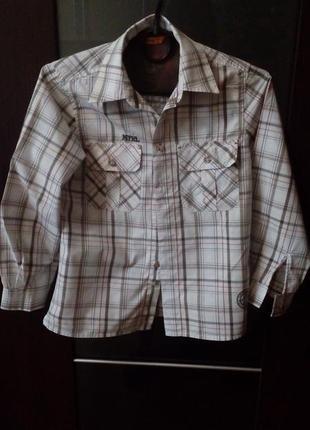Отличная рубашка с длинным рукавом 128