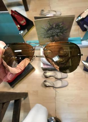 Зеркальные очки авиаторы ray ban 3449 оригинал