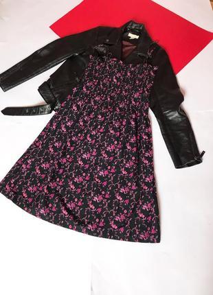 Лёгкий миди сарафан цветастое платье. s
