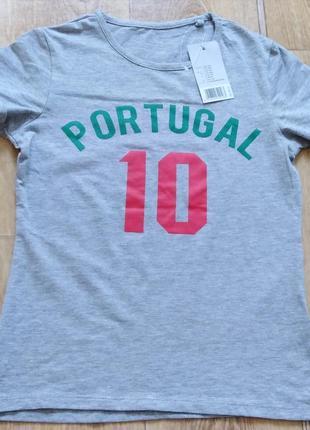 Футболка футбольная р. 110 116 122 128 134 140 portugal 10 производство германия