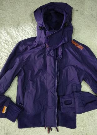Отличная super dry курточка ветровка фиолетовая