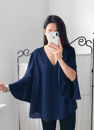 Романтичный тренд весны блуза кофточка с объемными рукавами f&f