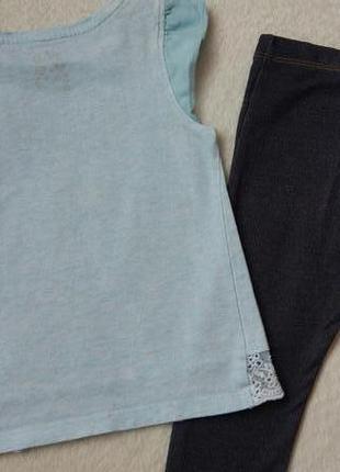 Комплект набор футболка туника, джегинсы легенсы на 2-3 года2 фото