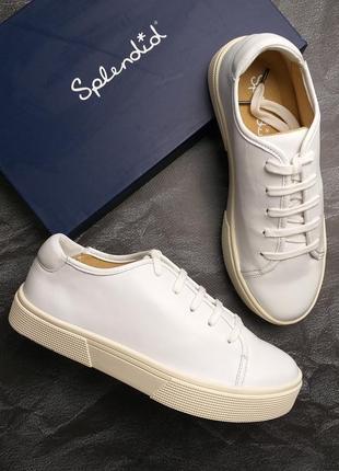 Splendid оригинал кожаные белые кеды на небольшой платформе