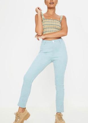 Вельветовые брюки нежного оттенка
