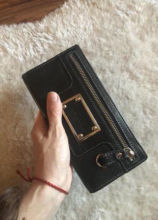 Стильный кожаный кошелёк5 фото