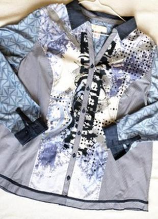 Оригинальная блузка в стиле печворк alessa