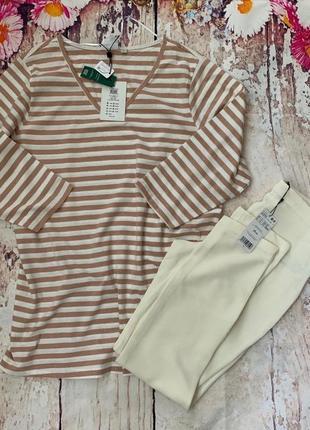 Женский реглан пуловер оверсайз с длинным рукавом в морском стиле junarose
