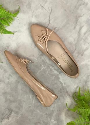 Нюдовые балетки на шнурочках  sh accessorize