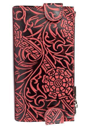 Кошелек женский амелия из натуральной кожи (бордовый)