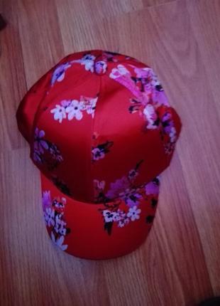 H&m кепка снэпбэк бейсболка с сакурой в цветочный принт
