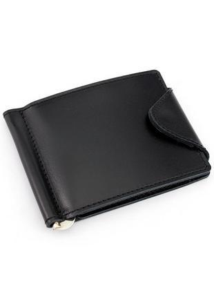 Кожаный зажим для денег crez-31 (черный)