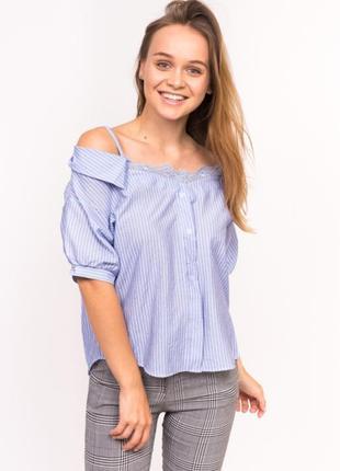 Женская блузка  с опущенными плечами 44-46