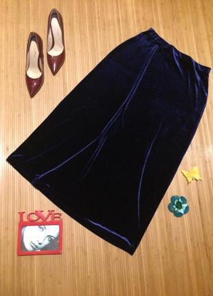 Длинная бархатная юбка, размер xxl