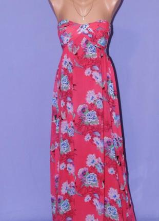 Шикарное нарядное платье в цветочный принт