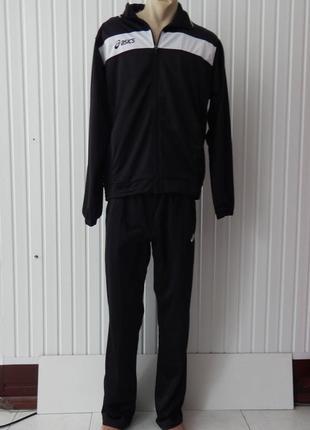 Спортивный чёрный  мужской  костюм asics