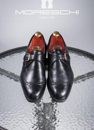 Монки люкс класса moreschi, италия 42,5-43 мужские туфли броги кожаные