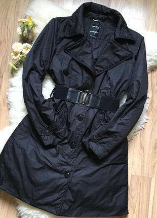 Шикарное чёрное пальто плащ италия