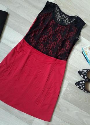 Платье с кружевной спинкой  р. 38-402 фото