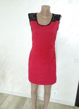 Платье с кружевной спинкой  р. 38-405 фото