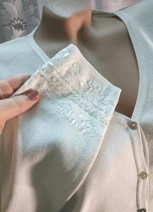Нарядная кофта кардиган белая с вышивкой бисером большой размер wallis2 фото