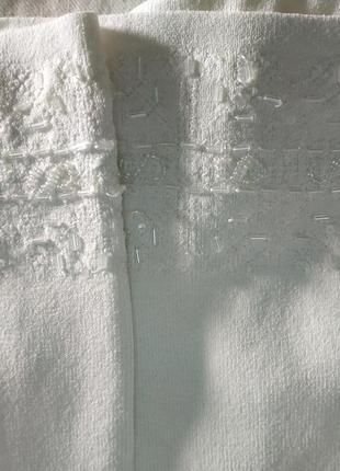 Нарядная кофта кардиган белая с вышивкой бисером большой размер wallis7 фото