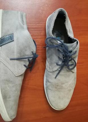 Туфли bugatti для стильного мужчины, идеальный замш,  стелька 28,5см