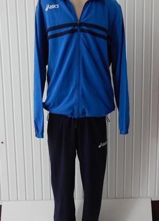 Спортивный синий  мужской  костюм asics