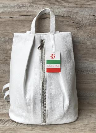 Кожаный женский рюкзак фирмы vera pelle производство италия