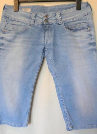 Pepe jeans-жен.джинсовые капри бриджи  р.33