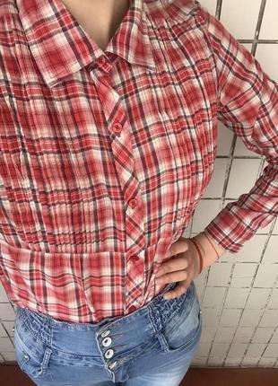Рубашка, рубаха, туника, мини платье , в клетку, в клеточку в подарок тату чокер
