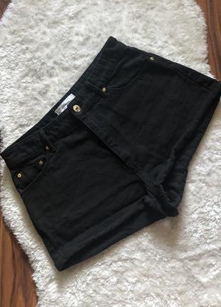 Джинсовые шорты черные mango