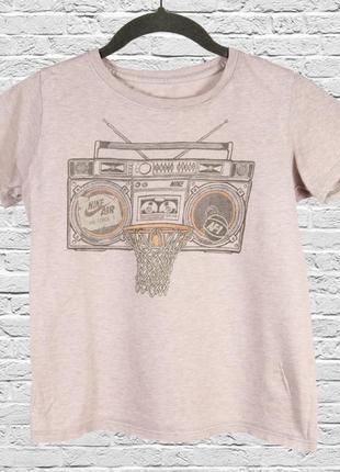 Женская футболка с принтом, летняя футболка бежевая с принтом