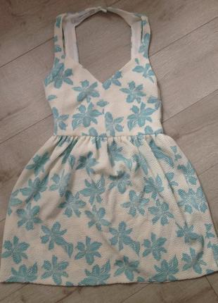 Супер платье zara в цветочек