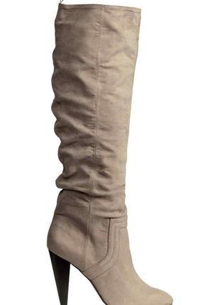 Новые элегантные сапоги светло-серого цвета 41 размера