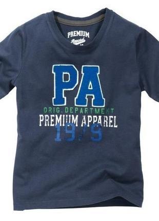 Стильная футболка 146-152 pepperts германия темно синяя