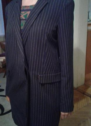 Пальто пиджак жакет оверсайз весенний легкий удлиненный