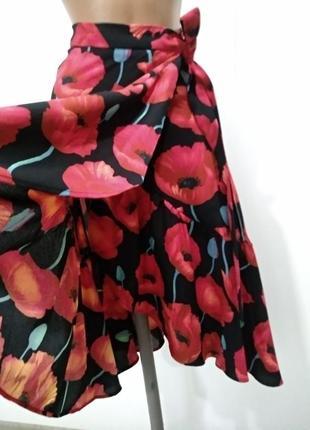 Красивая юбка h&m на запах в цветочный принт2 фото