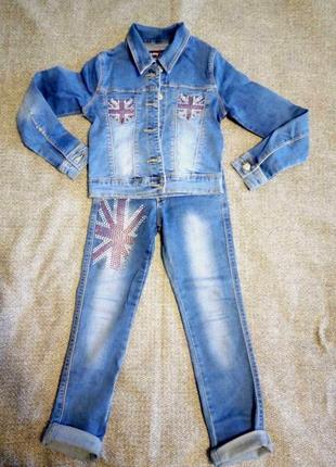 Джинсовий костюм для дівчинки