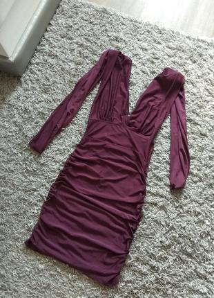 Платье трансформер сливового цвета