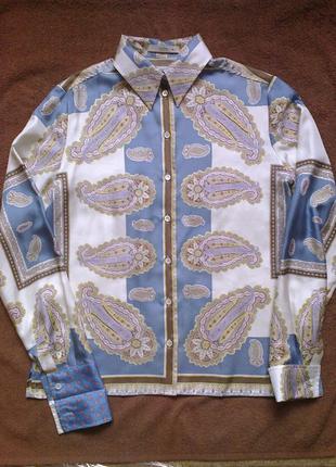 100%шелк блуза etro италия (р 12-14)
