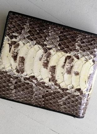 Мужской кошелёк, портмоне из натуральной кожи змеи