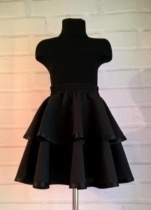 Черная школьная юбка. школьная форма. юбка для девочек. рр 122-140
