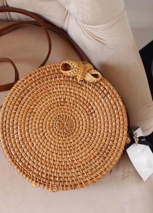 Сумка из ротанга , соломенная сумка